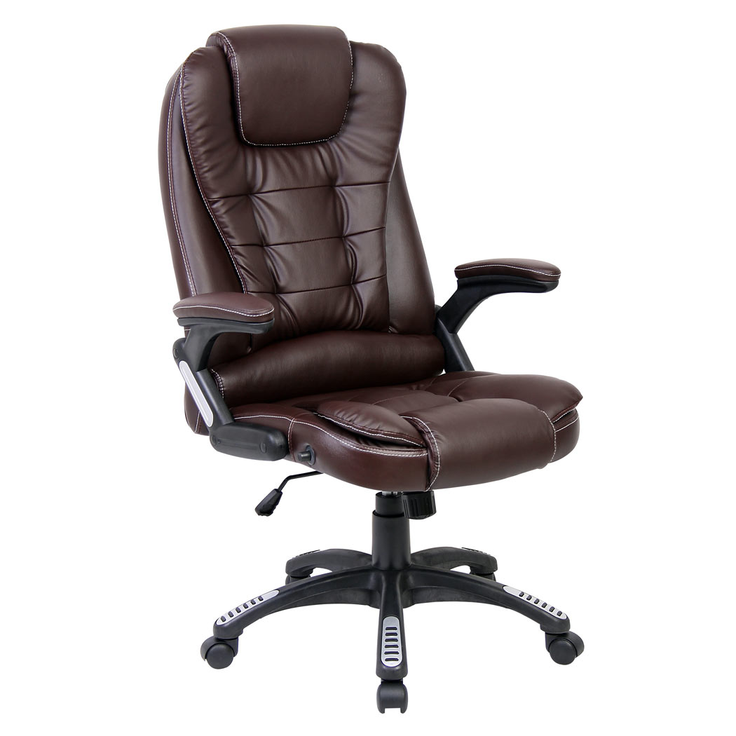 luxury reclining office chair executive computer desk leather