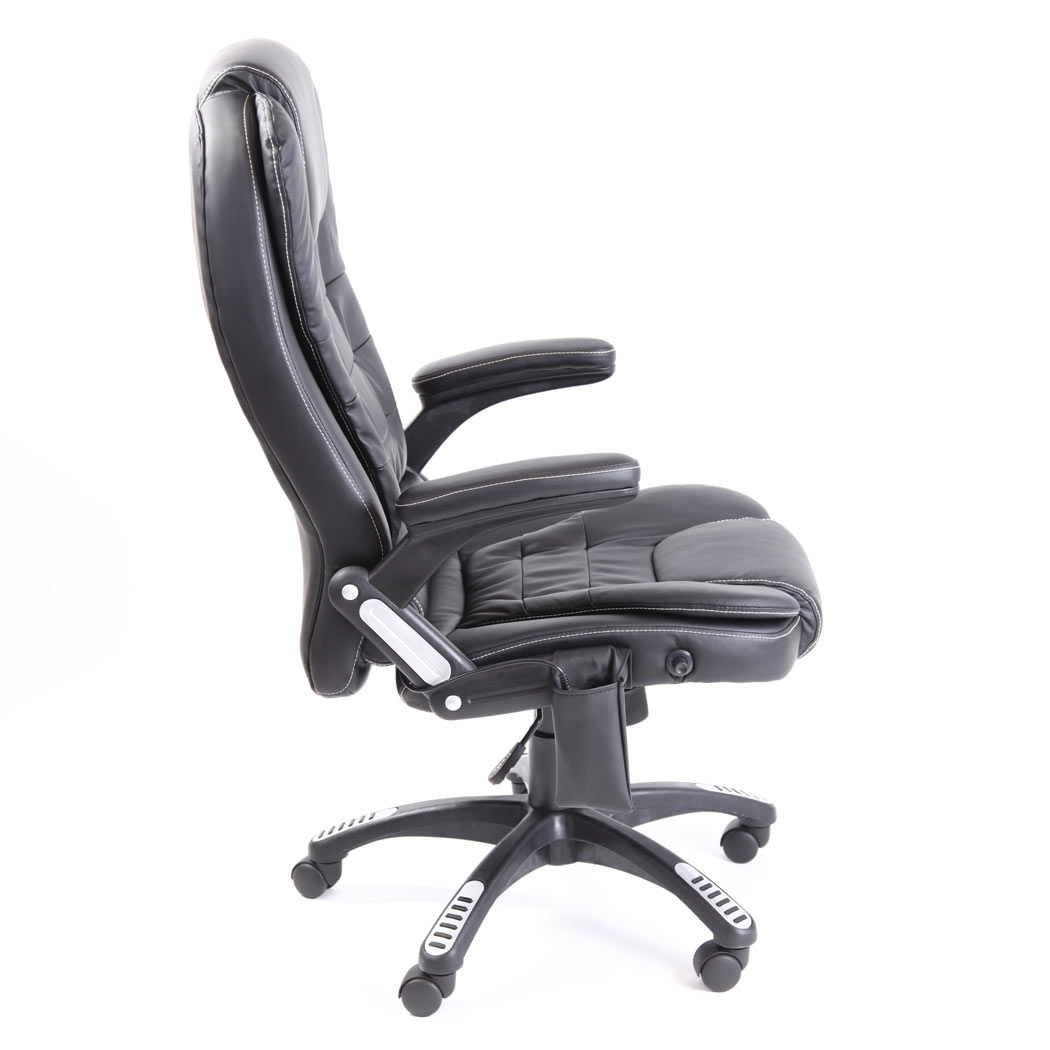 RIO BONDED LEATHER RECLINING W 6 POINT MASSAGE HEAT HIGH BACK